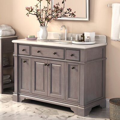 Plato 48 Single Vanity Set with Backsplash