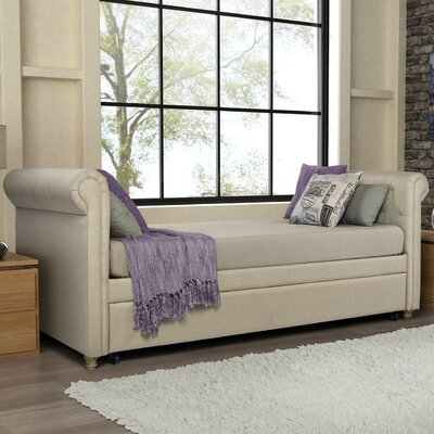 Rossburg Daybed with Trundle Color: Tan