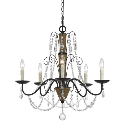 Plotinus 5-Light Candle-Style Chandelier