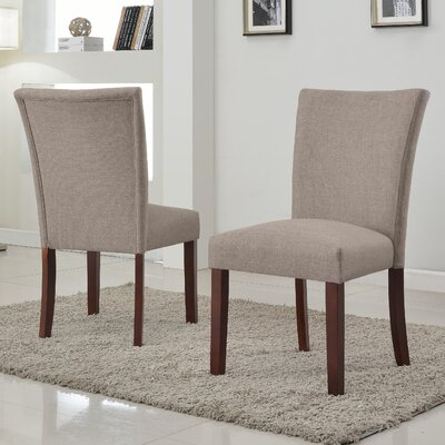 Plott Side Chair Upholstery: Brown, Finish: Espresso