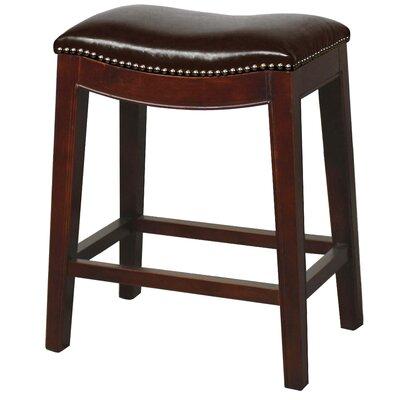 Laniel 24.5 Bar Stool Finish: Brown, Upholstery: Brown