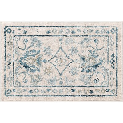 Ostro Traditional Cream Area Rug Rug Size: 2' x 3'