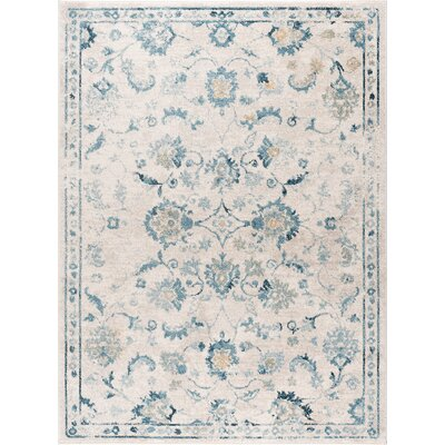 Ostro Traditional Cream Area Rug Rug Size: 53 x 73