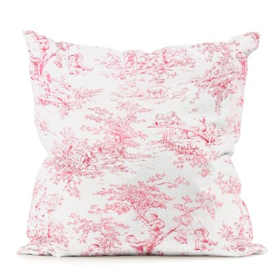 Kymmi Throw Pillow Color: Park Red