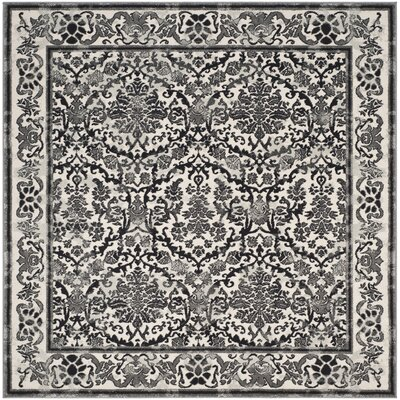 Jean Ivory/Black Area Rug Rug Size: Square 67, Color: Ivory/Black