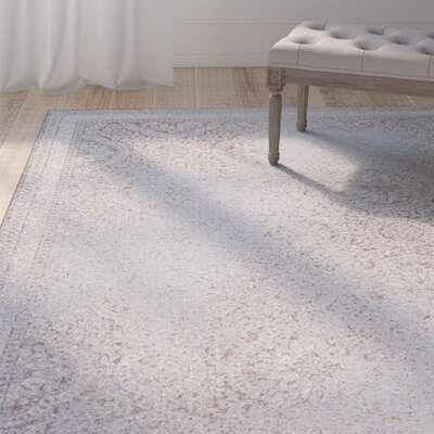 Somme Ivory Indoor/Outdoor Area Rug Rug Size: 53 x 76