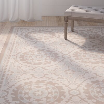 Davisboro Dark Beige/Beige Indoor/Outdoor Area Rug