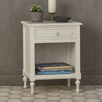 Pettibone 1 Drawer Nightstand Finish: White Harvest