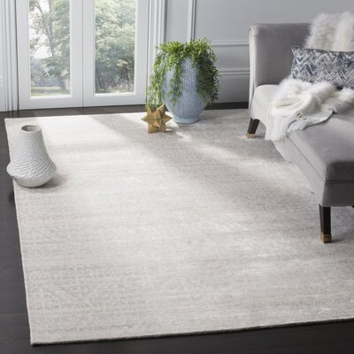 Alter Hand-Knotted Gray Area Rug Rug Size: 6 x 9