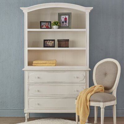 Percival 3 Drawer Standard Chest Color: White