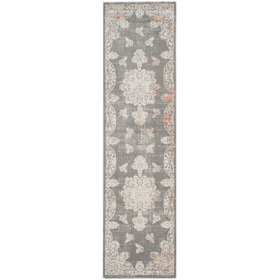 Auguste Gray/Ivory Area Rug Rug Size: Rectangle 67 x 92