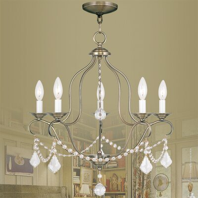 Kendrick 5-Light Candle-Style Chandelier Finish: Antique Brass