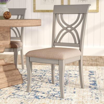 Amadou Side Chair (Set of 2) Finish: Grey