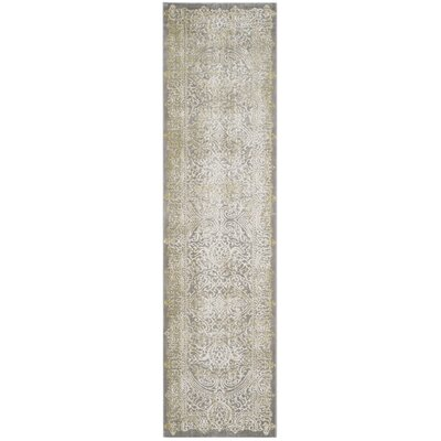 Auguste Gray/Green Area Rug Rug Size: Runner 22 x 8