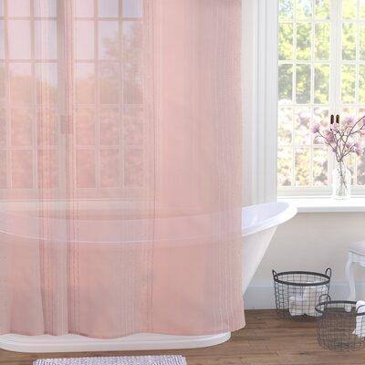Ledonne Shower Curtain Color: Pink