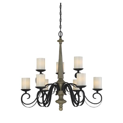 Belles 9-Light Shaded Chandelier