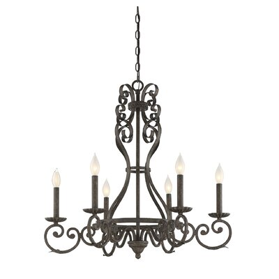 Rosean 6-Light Candle-Style Chandelier