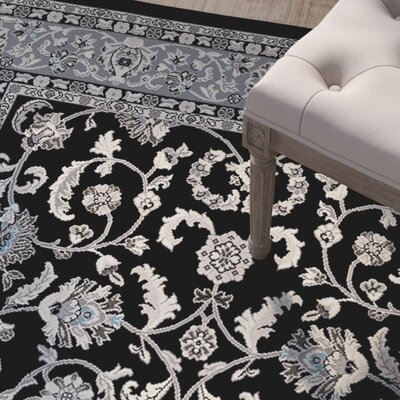 Tannen Black Area Rug Rug Size: 5 x 8