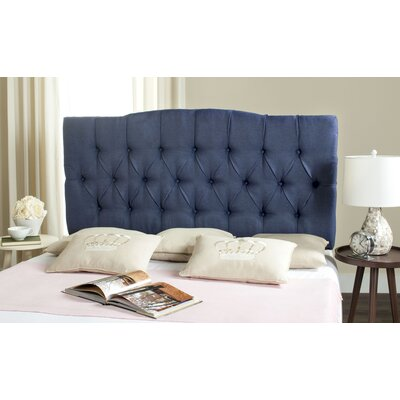 Ellecourt Queen Upholstered Panel Headboard Upholstery: Navy