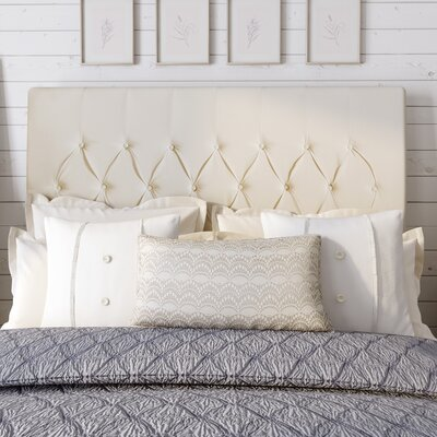 Laurent Upholstered Panel Headboard Upholstery: Ivory, Size: Queen