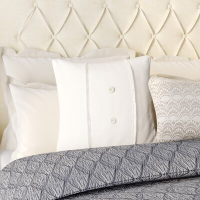 Irenee Linen Throw Pillow Color: Cream