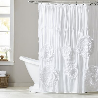 Barbeau Shower Curtain Color: White