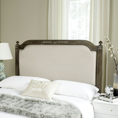 Oshields Upholstered Panel Headboard Finish: Rustic Oak, Size: Queen