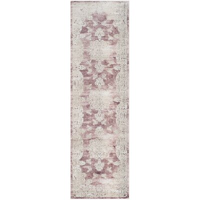 Prager Rose/Beige Area Rug Rug Size: Rectangle 3 x 10