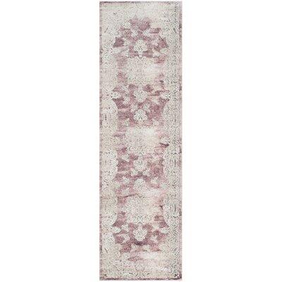 Prager Rose/Beige Area Rug Rug Size: 3 x 10