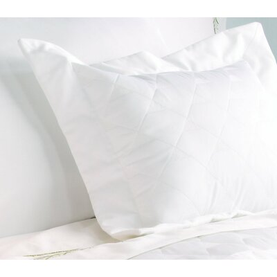 Diamond Quilted Sham Color: Pearl, Size: Euro