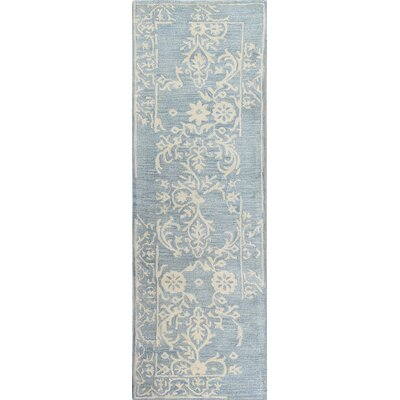 Coeur dAlene Wool Light Blue Area Rug Rug Size: Runner 26 x 8