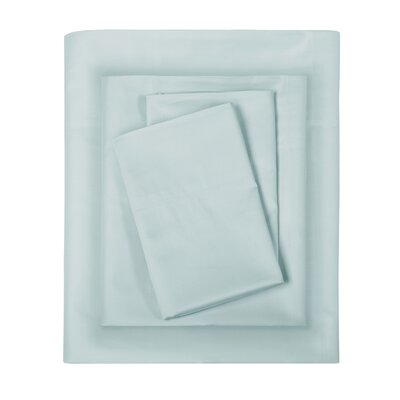 Elona 300 Thread Count Pima Cotton Sheet Set Size: Queen, Color: Seafoam
