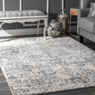 Duclair Faded Gray Area Rug Rug Size: Rectangle 8 x 10