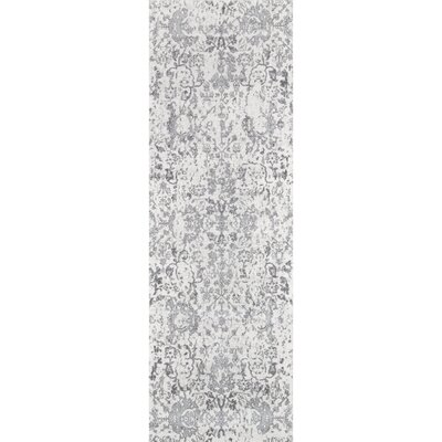 Duclair Faded Gray Area Rug Rug Size: Runner 28 x 8