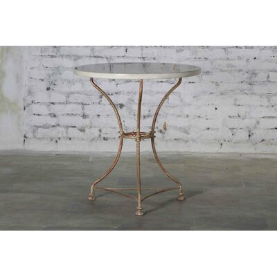 Bismarck Iron Marble Top Dining Table