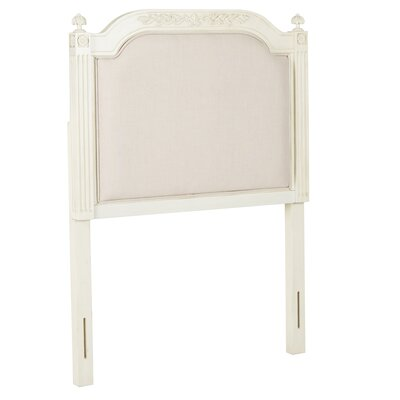 Oshields Upholstered Panel Headboard Finish: Antique Beige, Size: Queen