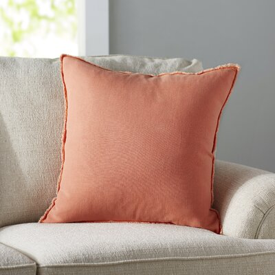 Levasseur Linen Throw Pillow Color: Coral