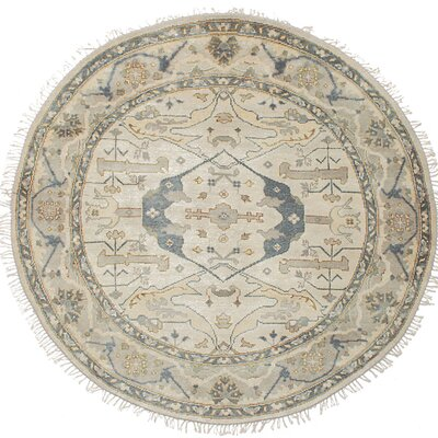 One-of-a-Kind Amberboi Hand-Knotted Wool Cream Area Rug