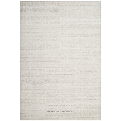 Alter Hand-Knotted Gray Area Rug Rug Size: Rectangle 6 x 9