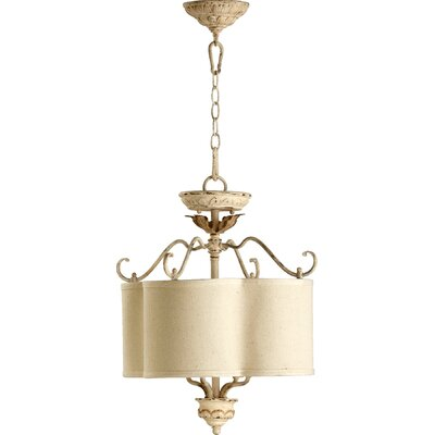 Paladino 4-Light Dual Mount Drum Pendant Finish: Persian White