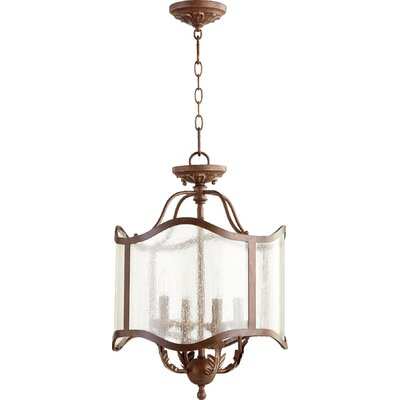 Paladino 4-Light Drum Chandelier Size: 22 H x 16 W
