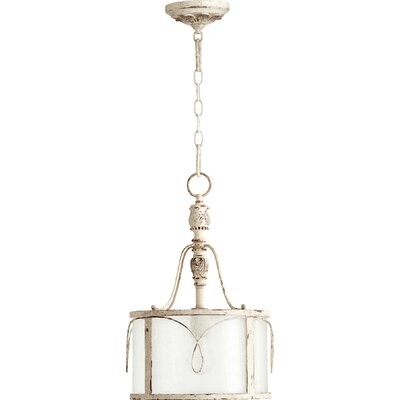 Paladino 1-Light Drum Foyer Pendant Finish: Persian White