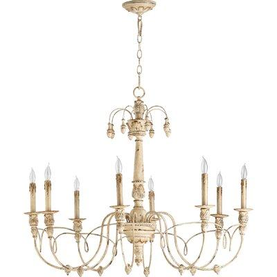 Paladino 8-Light Candle-Style Chandelier Finish: Persian white