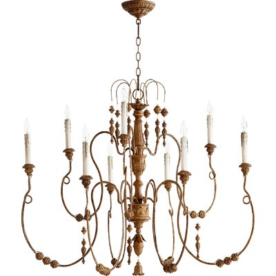 Paladino 9-Light Candle-Style Chandelier Finish: French Umber