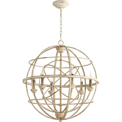 Paladino 6-Light Candle-Style Chandelier Finish: Persian White
