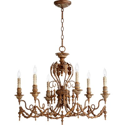 Paladino 6-Light Candle-Style Chandelier Finish: Vintage Copper