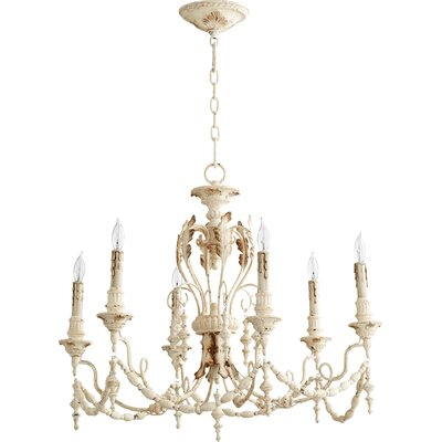 Paladino 6-Light Candle-Style Chandelier Finish: Persian White