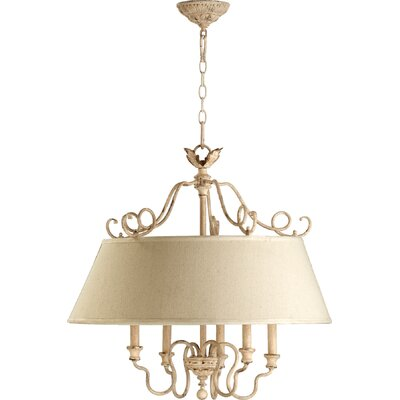 Paladino 5-Light Drum Pendant Finish: Persian white