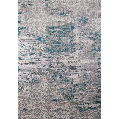 Aminata Distressed Pattern Blue/Gray Area Rug Rug Size: 710 x 106