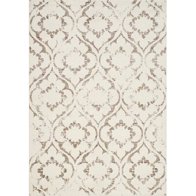 Poston Cream/Taupe Area Rug Rug Size: 53 x 77